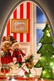 πλαισιωμένη σκηνή διακοπών ανασκόπησης Χριστούγεννα Στοκ φωτογραφία με δικαίωμα ελεύθερης χρήσης