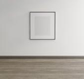 Πλαισιωμένη τέχνη στον τοίχο ενός γκαλεριού τέχνης Στοκ Εικόνες