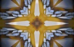 4 πλαισιωμένο εξωθημένο δομή mandala μετάλλων αστεριών απεικόνιση αποθεμάτων