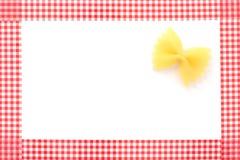 Πλαισιωμένο ζυμαρικά υπόβαθρο Στοκ φωτογραφία με δικαίωμα ελεύθερης χρήσης