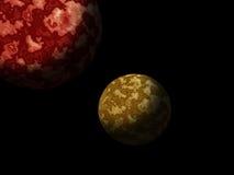 Πλανήτες γαλαξιών Στοκ φωτογραφία με δικαίωμα ελεύθερης χρήσης