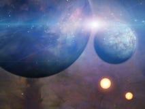 Πλανήτες και ήλιοι διανυσματική απεικόνιση
