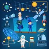 Πλανήτες και ήλιος από τη διανυσματική απεικόνιση εικονιδίων αστρονομίας αστρολογίας ηλιακών συστημάτων μας, εκπαίδευση ανθρώπων διανυσματική απεικόνιση