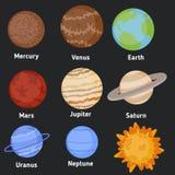 πλανήτες που τίθενται απεικόνιση αποθεμάτων