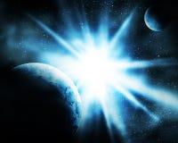 Πλανήτες στο διάστημα διανυσματική απεικόνιση