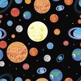 Πλανήτες σχεδίων του ηλιακού συστήματος Διανυσματική απεικόνιση