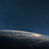 Πλανήτης Γη από το διάστημα τη νύχτα στοκ φωτογραφίες