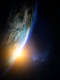 Πλανήτης Γη από το διάστημα στοκ εικόνες με δικαίωμα ελεύθερης χρήσης