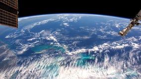 Πλανήτης Γη που βλέπει από το Διεθνή Διαστημικό Σταθμό ISS Τυφώνας που παρατηρείται τεράστιος από το διάστημα Χρονικό σφάλμα της  απόθεμα βίντεο