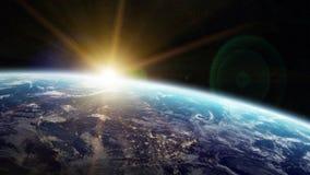 Πλανήτης Γη στα διαστημικά τρισδιάστατα δίνοντας στοιχεία των furnis αυτής της εικόνας διανυσματική απεικόνιση