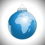 Πλανήτης Γη σφαιρών Χριστουγέννων της Αφρικής Στοκ Φωτογραφίες