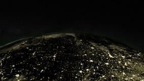 Πλανήτης Γη τη νύχτα απόθεμα βίντεο