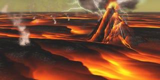 πλανήτης ηφαιστειακός απεικόνιση αποθεμάτων