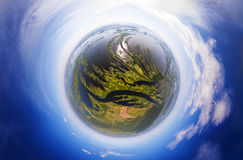 Πλανήτης με τους ποταμούς στοκ φωτογραφίες με δικαίωμα ελεύθερης χρήσης