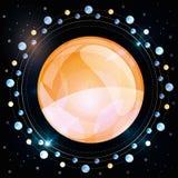 Πλανήτης στο διάστημα Στοκ Εικόνες