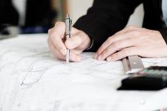 Πλανίζοντας έγγραφο αρχιτεκτόνων Στοκ Εικόνες