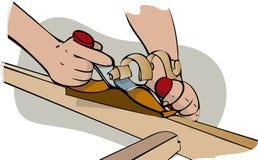 Πλανίζοντας ξύλο Στοκ Φωτογραφίες