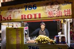 Πλανόδιος πωλητής που πωλεί το παραδοσιακό roti τηγανιτών σε Chiang Mai, Ταϊλάνδη Στοκ εικόνα με δικαίωμα ελεύθερης χρήσης