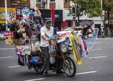 Πλανόδιος πωλητής, Σαγκάη Στοκ φωτογραφίες με δικαίωμα ελεύθερης χρήσης