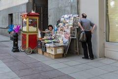Πλανόδιος πωλητής, Tbilisi, Γεωργία, Ευρώπη Στοκ φωτογραφία με δικαίωμα ελεύθερης χρήσης