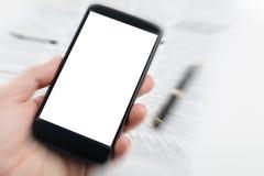 Πλαστά εφημερίδα και smartphone Στοκ Εικόνα