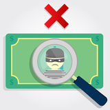πλαστά χρήματα Στοκ εικόνες με δικαίωμα ελεύθερης χρήσης