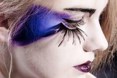 Πλαστά eyelashes Στοκ φωτογραφίες με δικαίωμα ελεύθερης χρήσης