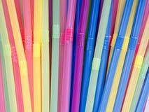 Πλαστικά άχυρα κατανάλωσης Στοκ Φωτογραφίες