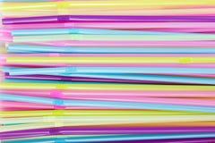 Πλαστικά άχυρα κατανάλωσης Στοκ εικόνα με δικαίωμα ελεύθερης χρήσης