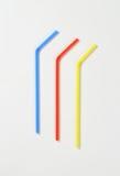 Πλαστικά άχυρα κατανάλωσης Στοκ Εικόνες