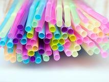 Πλαστικά άχυρα κατανάλωσης Στοκ Εικόνα