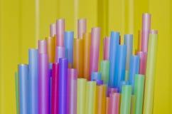 Πλαστικά άχυρα Στοκ Εικόνα