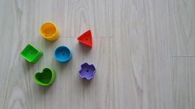 Πλαστικά γεωμετρικά κομμάτια Στοκ Εικόνες