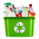 Πλαστικά εμπορευματοκιβώτια και μπουκάλια Στοκ Εικόνες