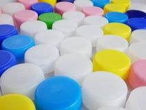 Πλαστικά καλύμματα μπουκαλιών Στοκ Εικόνες