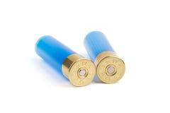 Πλαστικά κοχύλια κυνηγετικών όπλων που απομονώνονται Στοκ Φωτογραφίες