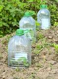 Πλαστικά μπουκάλια στοκ εικόνες