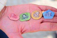 Πλαστικά νομίσματα Transnistria φωτογραφιών Στοκ Εικόνες