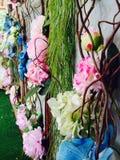 Πλαστικά λουλούδια Στοκ Εικόνες