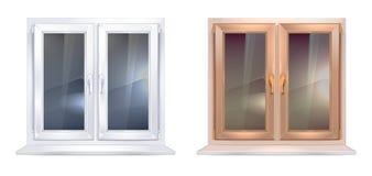 Πλαστικά παράθυρα Στοκ Εικόνες