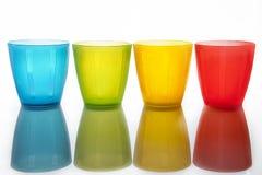 Πλαστικά πολύχρωμα γυαλιά Στοκ φωτογραφίες με δικαίωμα ελεύθερης χρήσης