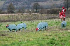 Πλαστικά πρόβατα οδικών σημαδιών Στοκ φωτογραφίες με δικαίωμα ελεύθερης χρήσης