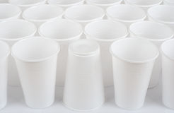 Πλαστικά φλυτζάνια Στοκ Εικόνες