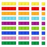 Πλαστική οικοδόμηση του σχεδιαστή παιδιών ` s ελεύθερη απεικόνιση δικαιώματος