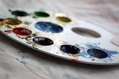 Πλαστική παλέτα χρώματος στοκ φωτογραφίες με δικαίωμα ελεύθερης χρήσης