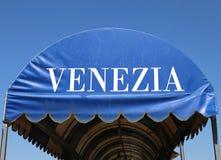 πλαστική σκηνή τη ΒΕΝΕΤΙΑ που γράφεται με στα ιταλικά Στοκ εικόνα με δικαίωμα ελεύθερης χρήσης
