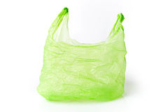 Πλαστική τσάντα που απομονώνεται πράσινη Στοκ φωτογραφίες με δικαίωμα ελεύθερης χρήσης