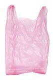 Πλαστική τσάντα που απομονώνεται ρόδινη στοκ φωτογραφίες