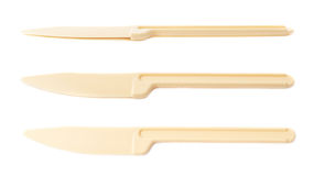 Πλαστικό εργαλείο μαχαιριών που απομονώνεται Στοκ εικόνα με δικαίωμα ελεύθερης χρήσης