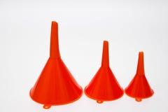 πλαστικό κόκκινο χοανών Στοκ εικόνα με δικαίωμα ελεύθερης χρήσης